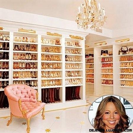 El armario-zapatero de Mariah Carey