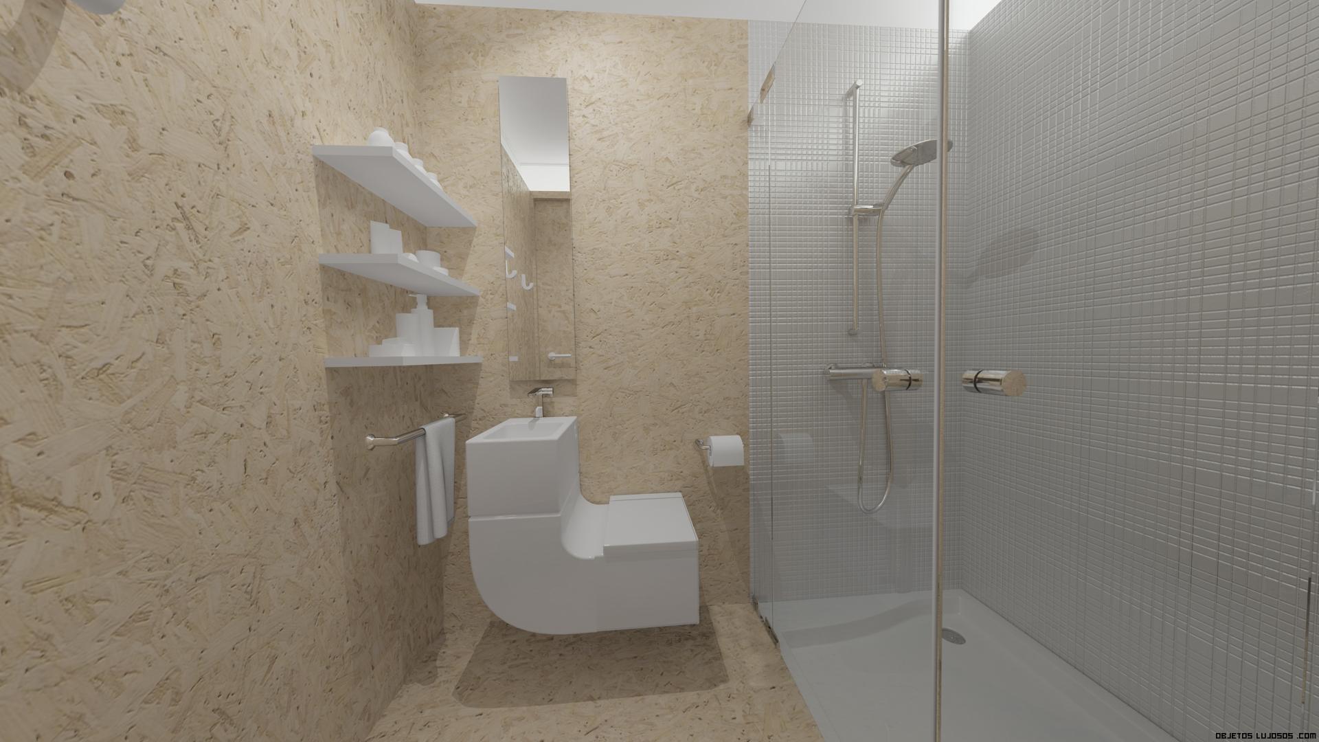 Baño Minimalista Pequeno:baños con mamparas de cristal