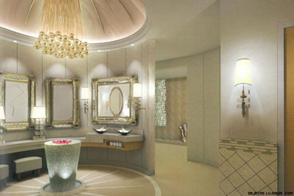 Baños Grandes Lujosos:Baños lujosos entre amplios espacios terminados con los mejores