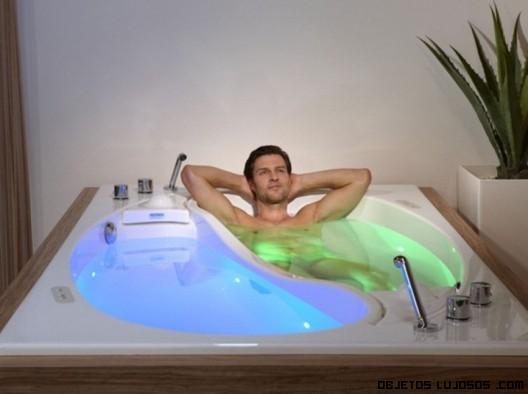 Baño relajante en pareja