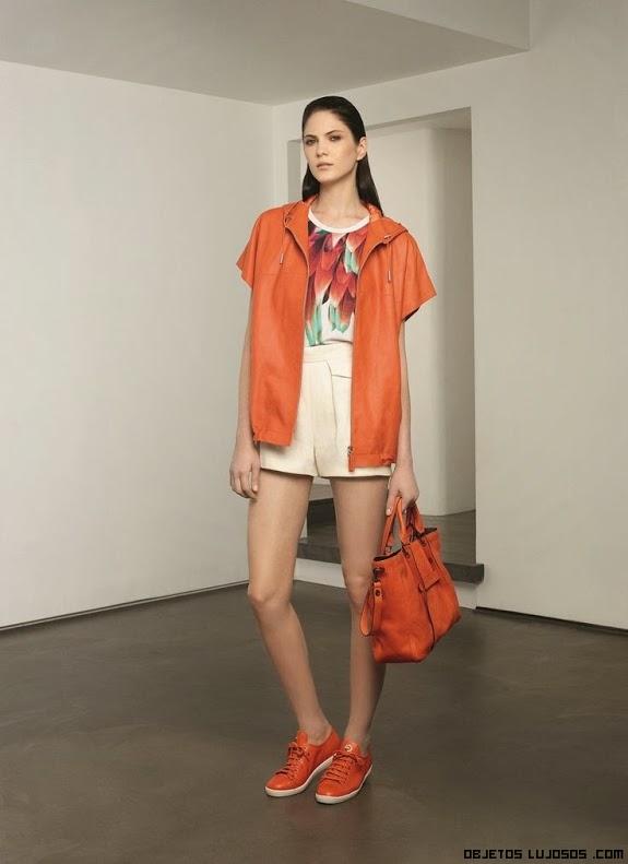 Bolsas deportivas en color naranja