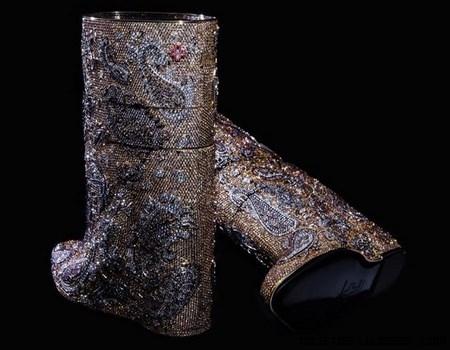 Botas hechas de oro