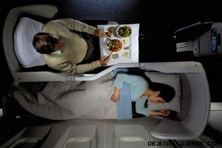 Comodidades de un avión de lujo