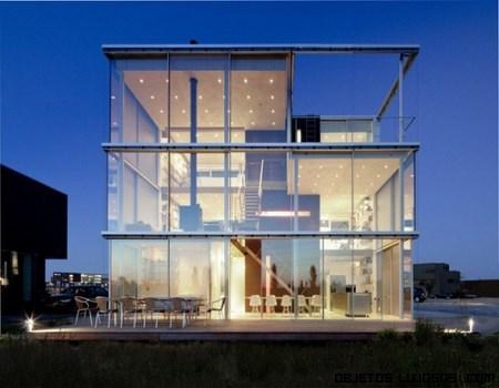 Casas hechas de cristal