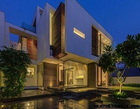 Casa Overhang en la India