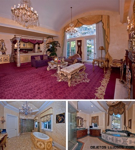 habitaciones lujosas de famosos