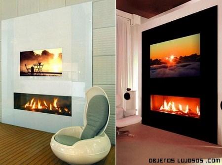 Chimeneas originales y lujosas for Salones con chimeneas electricas