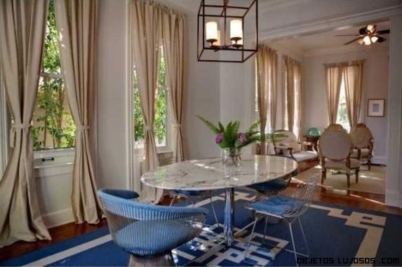 alfombras de color azul