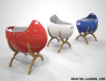 Cunas de diseño en varios colores