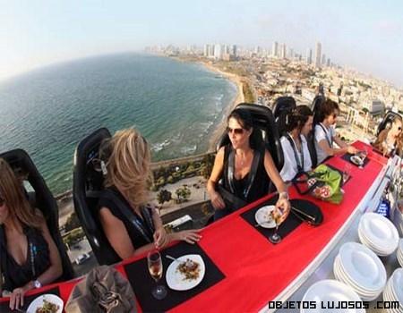 Cenas de lujo en las alturas
