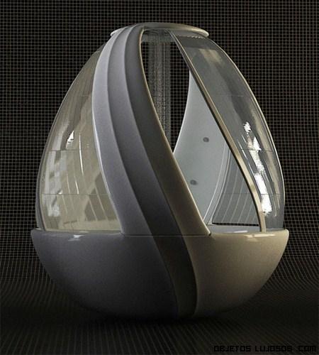 Duchas en forma de huevo