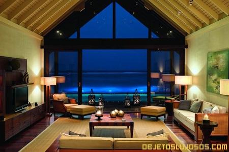 Hotel lujoso en las Maldivas