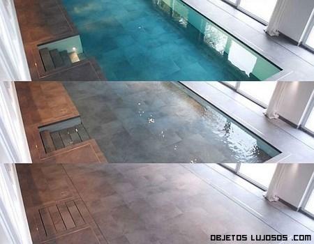 Una piscina bajo el suelo