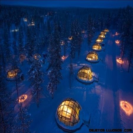Una estancia de lujo en Laponia