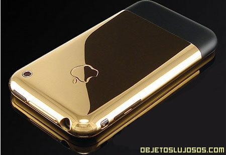 Móvil iPhone de Oro de 24 Kilates