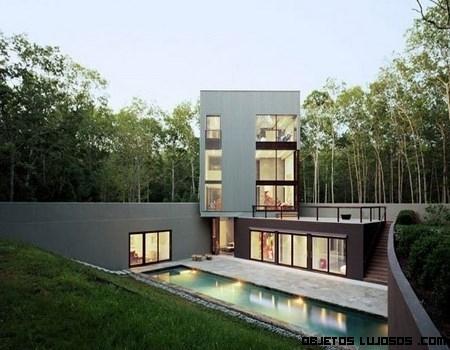 Una casa de lujo en medio de la naturaleza