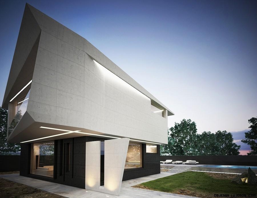 Casas con superficies asimétricas