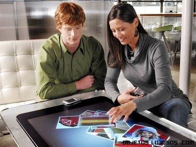 mesas de salón con ordenadores