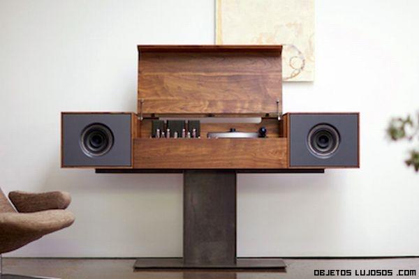 Muebles para audio negro juego de muebles mueble de tv for Mueble equipo hifi