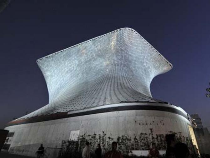 Museos hechos con placas de aluminio