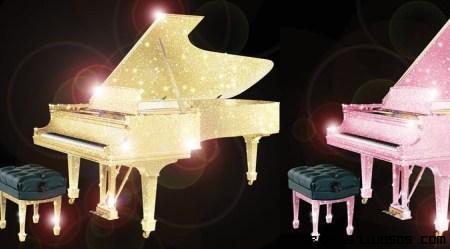 Pianos con cristales Swarovski