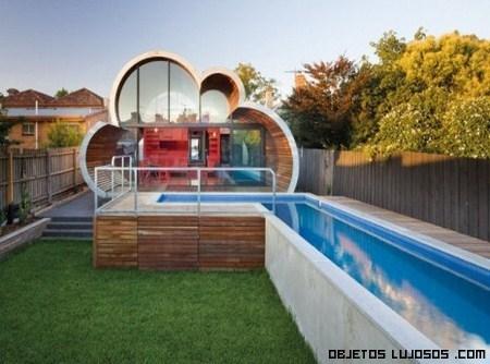 La casa nube en australia for Casas con piscina dentro