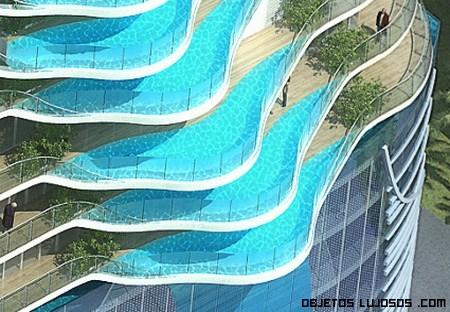 piscinas en forma ovalada