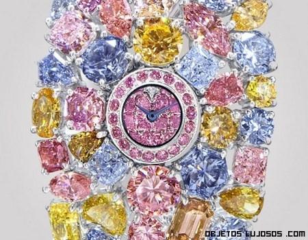 Relojes con piedras de colores