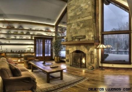Bruce willis vende su rancho de lujo - Beautiful corner fireplace design ideas for your family time ...
