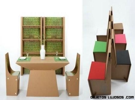 Muebles de cartón, otra opción de lujo