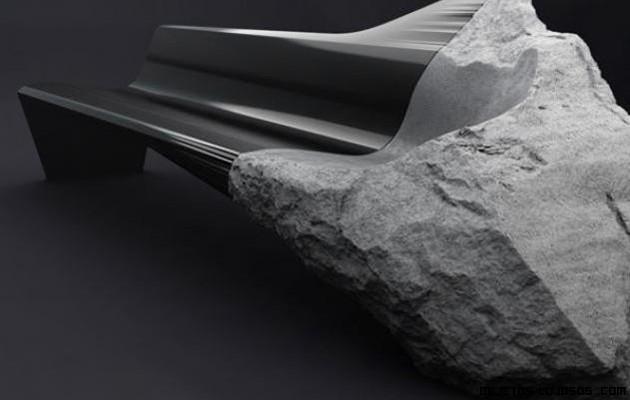 Sofá hecho de piedra