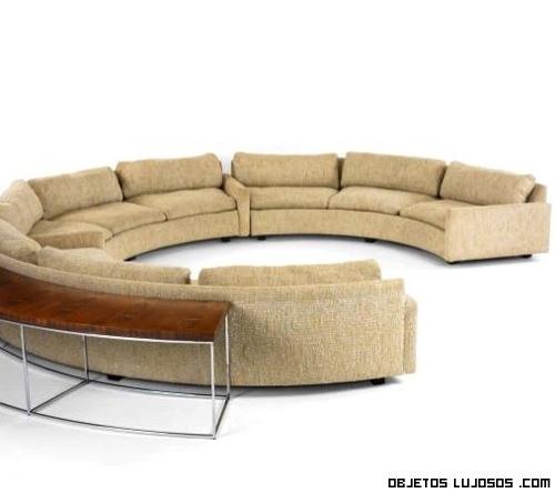 Sof s semicirculares de lujo - Telas para fundas de sofa ...