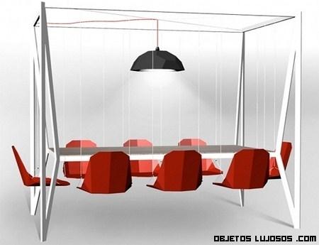 Una mesa columpio para tus divertidas reuniones