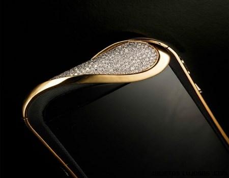 pantallas de móviles con oro