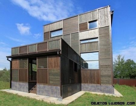 Diseño con parches en la casa Volga