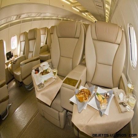 Volar entre las más lujosas comodidades