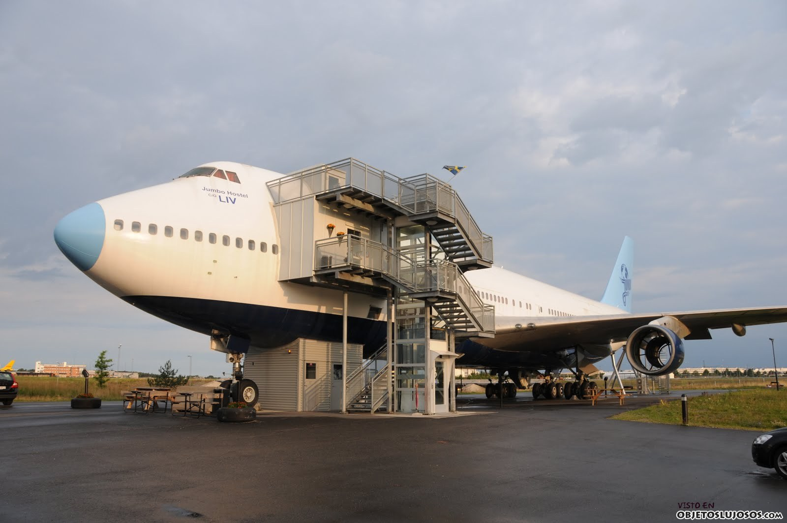 avión hotel jumbo