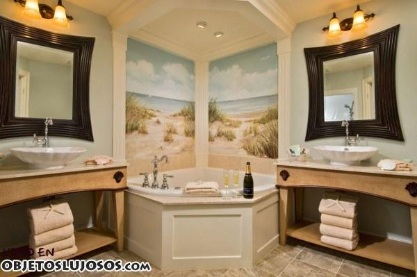 Baños Grandes Lujosos:Tres ejemplos de baños lujosos