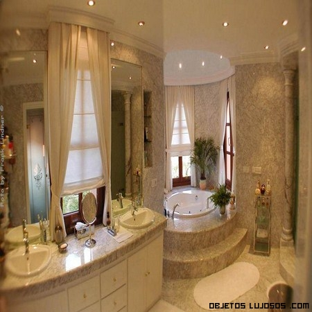 baño de moda en tonos pastel