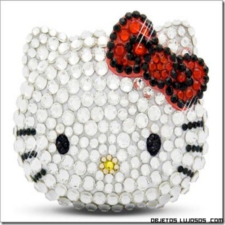 Bolso con brillantes de hello kitty