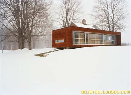 Cabaña de lujo en la nieve