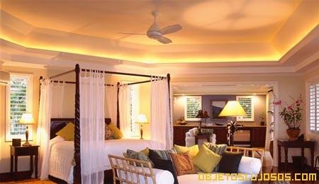 Hotel para unas vacaciones en el caribe for Camas con cortinas