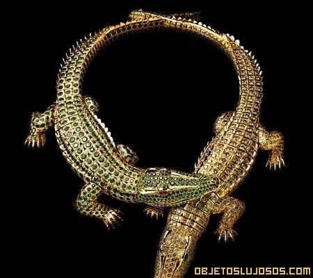 gargantilla cocodrilo articulado