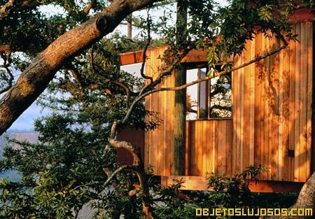 Hotel de lujo para relajaci n total for Hotel con casas colgadas de los arboles