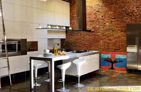 Loft de lujo en espa a for Cocinas de lujo madrid