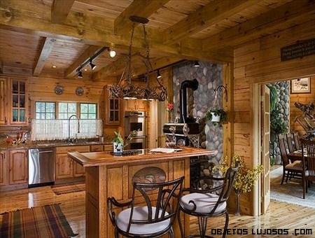 Casas de madera exclusivas - Casas de ensueno interiores ...