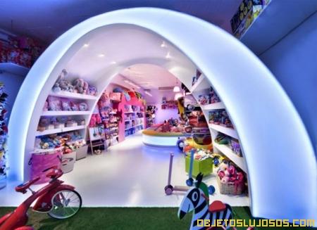 Decoración moderna en una juguetería