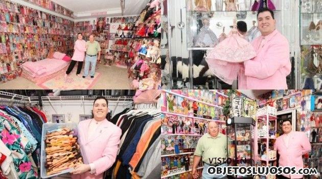 el mayor coleccionista de Barbies