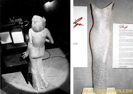 Vestido más caro fue de Marylin Monroe