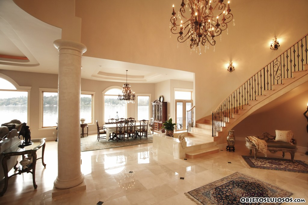 luxury homes interior interiores con grandes escaleras de lujo 14080